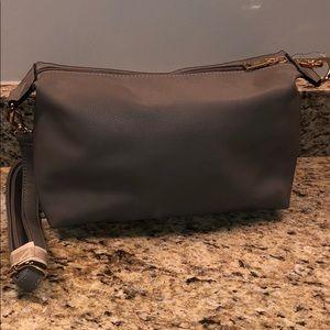 Wilson leather gray crossbody bag